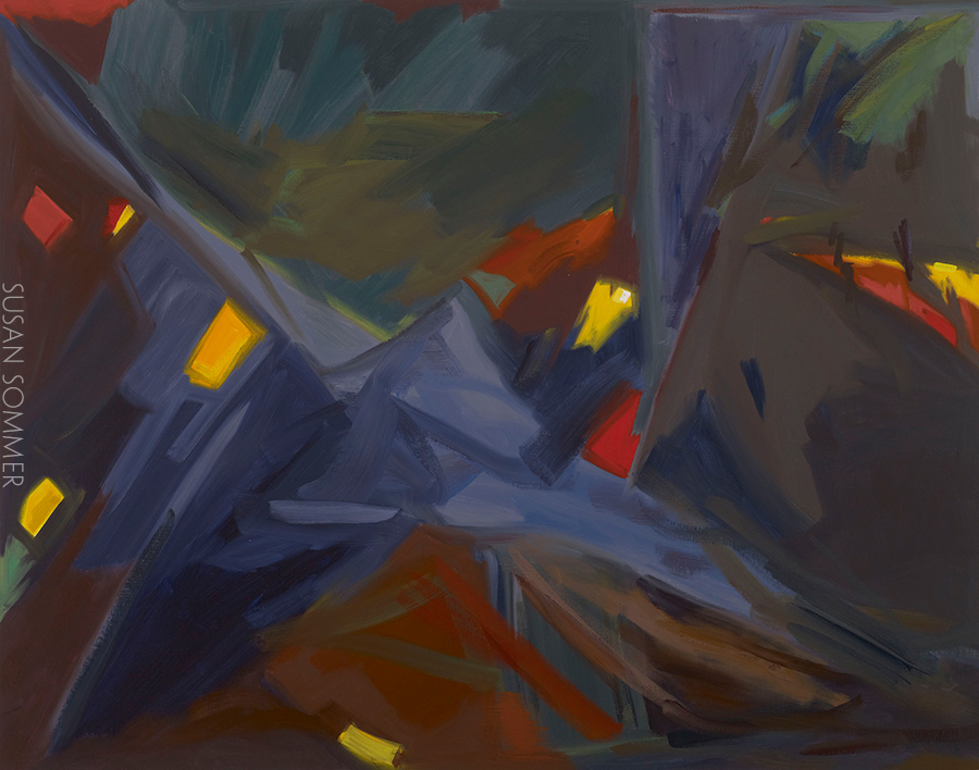 plein air abstract painting oil on linen